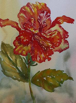 Painting - Angel Hibiscus by Tara Moorman