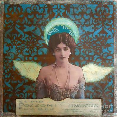 Mixed Media - Angel In Blue by Desiree Paquette