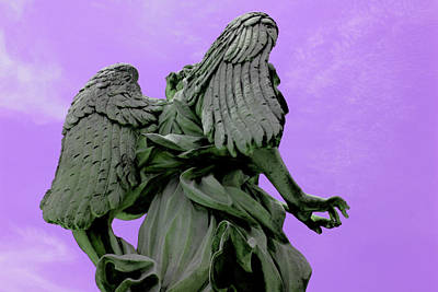 Photograph - Angel In Purple Sky by Alessandria Iannece