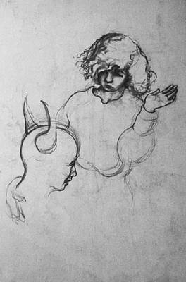 Drawing - Angel by Louis Gleason