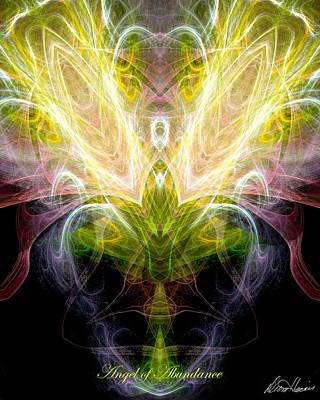 Angel Of Abundance Print by Diana Haronis