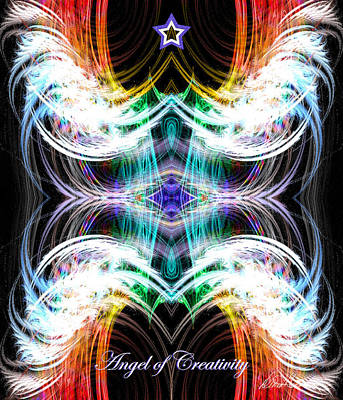 Digital Art - Angel Of Creativity by Diana Haronis