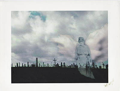 Cemetary Mixed Media - Angel Of The Mourning by Lori  Secouler-Beaudry