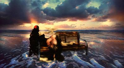 Wave Mixed Media - Angel Of The Ocean by Georgiana Romanovna
