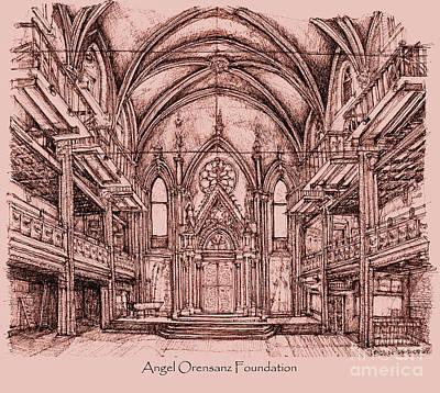 Angel Orensanz In Dark Pink Art Print by Adendorff Design