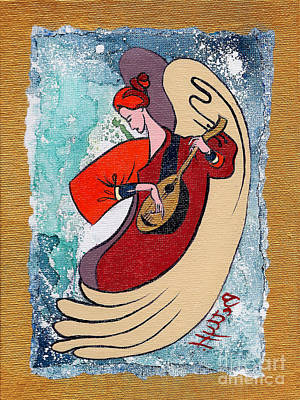 Angel Playing For Us No2 Art Print by Elisabeta Hermann