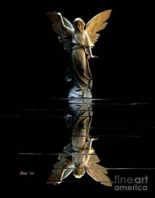 Digital Art - Angel Reflected by Dale   Ford