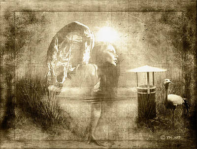 Angel Spirit Sepia Art Print
