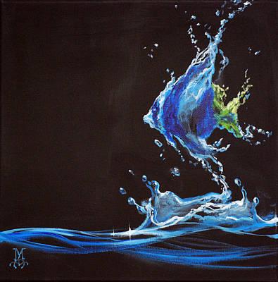 Angel Splash Art Print by Marco Antonio Aguilar