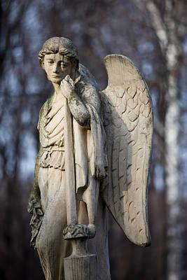Angel Statue Art Print by Artur Bogacki