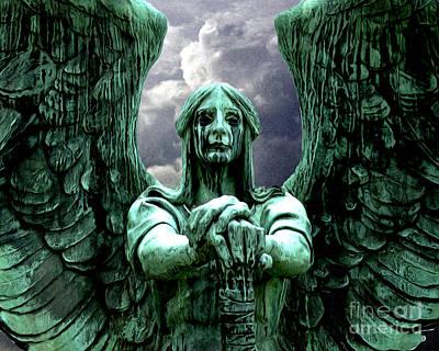 Angel Warrior Art Print by Anne Raczkowski