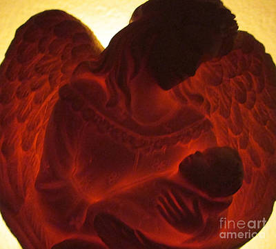 Photograph - Angel Watching Over Baby by Patricia Januszkiewicz