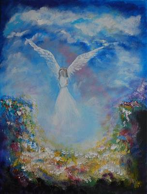 Painting - Angel Whisperings by Leslie Allen