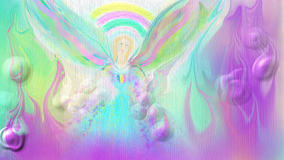 Digital Art - Angel Working by Rosana Ortiz