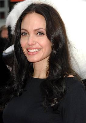Angelina Jolie At Arrivals For Dvd Print by Everett