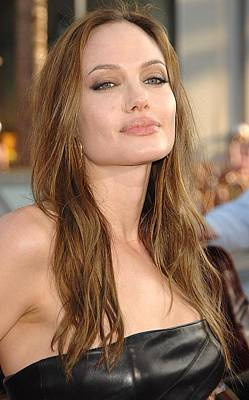 Smoky Eyes Photograph - Angelina Jolie At Arrivals For Premiere by Everett