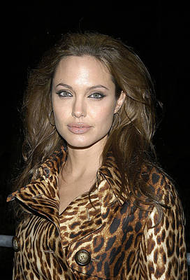 Angelina Jolie At Sharkspeare In The Art Print by Everett
