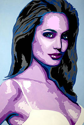 Woman Painting - Angelina Jolie by Brittany Prichard