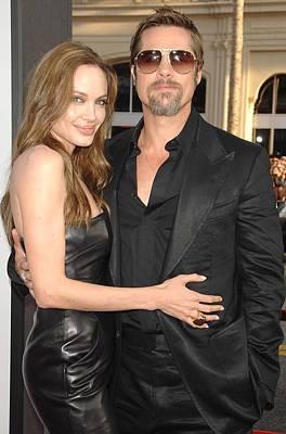 Unbuttoned Photograph - Angelina Jolie Wearing A Michael Kors by Everett