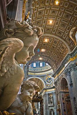 Photograph - Angels At The Vatican 2 by Michael Yeager