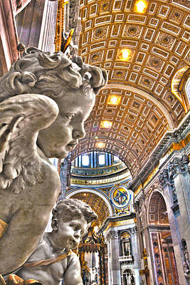 Angels At The Vatican Art Print by Michael Yeager