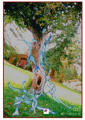 Mixed Media - Angels In Trees In Wa State by Carol Rashawnna Williams