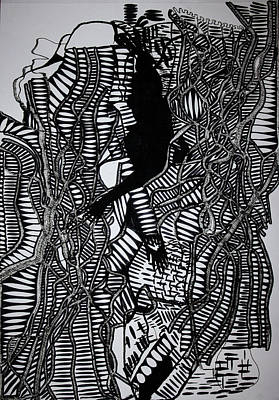 Drawing - Angels Kiss by Gloria Ssali