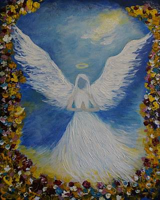 Painting - Angels Prayer by Leslie Allen