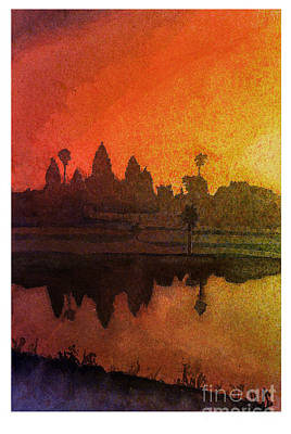 Angkor Sunrise Original by Ryan Fox