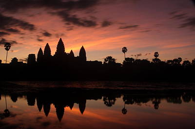 Cambodia Photograph - Angkor Wat At Sunrise by Nabil Kannan