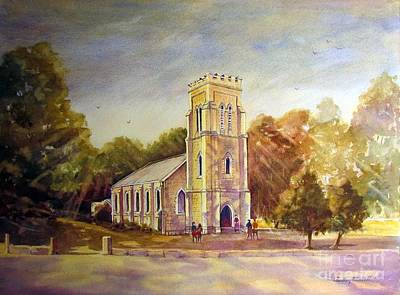 Beechworth Painting - Anglican Church Beechworth  Victoria by Audrey Russill