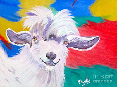 Painting - Angora Sweetie by Phyllis Kaltenbach