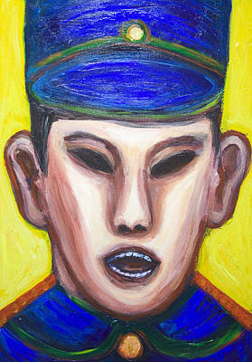 Angry Chinese Police Officer Art Print by Kazuya Akimoto