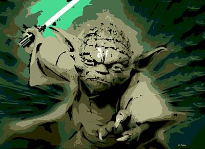 Digital Art - Angry Yoda by George Pedro