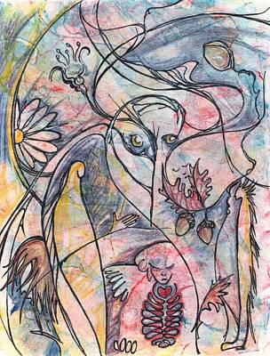 Carl Jung Painting - Anima Animus by Ingrid  Schmelter