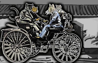 Animal Family 4 Art Print by Travis Burns