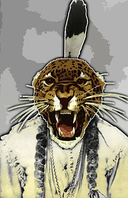 Animal Family 8 Chief Cheeta Art Print by Travis Burns
