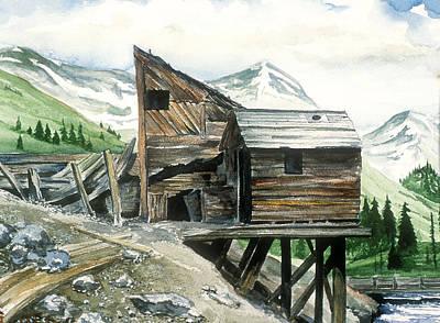 Painting - Animas Forks Abandoned Mine by Richard Mordecki