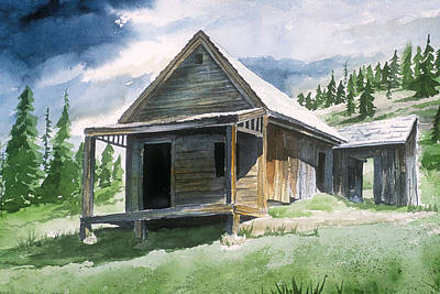 Painting - Animas Forks Ghost Town by Richard Mordecki