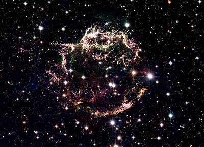 Cassiopeia Constellation Photograph - Animation Of A Supernova Explosion by Harvey Richer