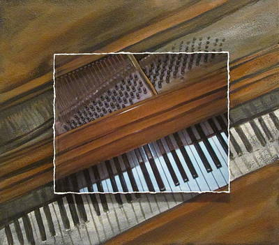 Mixed Media - Anita's Piano Layered by Anita Burgermeister