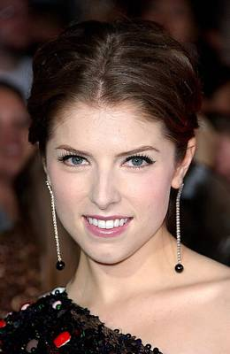 Diamond Earrings Photograph - Anna Kendrick Wearing Neil Lane by Everett