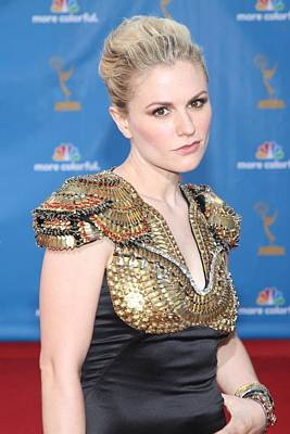 Academy Of Television Arts Photograph - Anna Paquin Wearing An Alexander by Everett