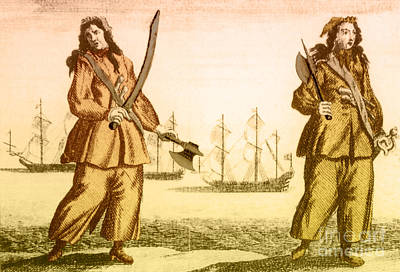 Anne Bonny And Mary Read, 18th Century Print by Photo Researchers