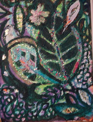 Anne Imagines Abstract Leaves Art Print by Anne-Elizabeth Whiteway
