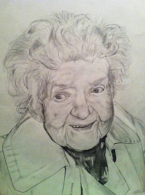 Drawing - Annie by Mike Eliades
