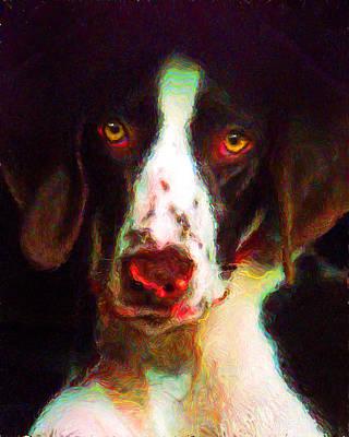 Dog Portrait Painting - Annie by Tammy Berk