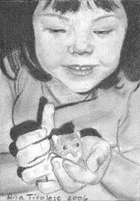 Hamster Drawing - Annie's Little Friend - Aceo by Ana Tirolese
