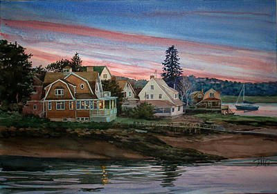 Painting - Annisquam River by Peter Sit