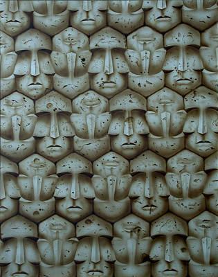 Abstract Simbolism Painting - Anonimia by Moises Hergueta